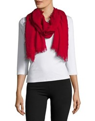 Lord And Taylor Fringed Scarf Crimson