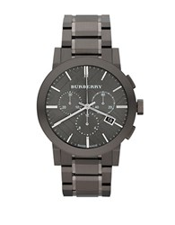 Burberry Mens The City Stainless Steel Chronograph Watch Silver