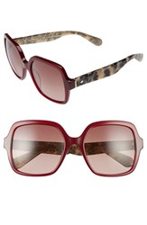 Kate Spade Women's New York 'Katels' 54Mm Sunglasses Burgundy Havana Glitter Burgundy Havana Glitter
