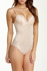 Heavenly Secrets Convertible Padded Bodysuit Beige