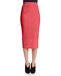 Roland Mouret Galaxy Fitted Pencil Skirt Rose Pink