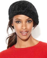 Charter Club Chenille Shaker Beret Hat Ivory