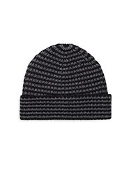 Saks Fifth Avenue Two Tone Knit Beanie Charcoal Black