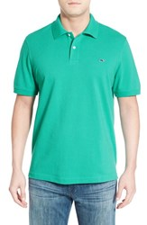 Vineyard Vines Men's 'Classic' Pique Knit Polo Cove Green