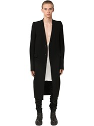 Rick Owens Wool And Viscose Coat W Waist Belt Black