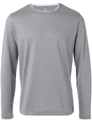 Eleventy Crew Neck Sweatshirt Men Cotton Xxl Grey