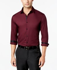 Alfani Men's Slim Fit Stretch Long Sleeve Shirt Created For Macy's Port