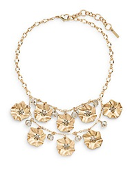 Saks Fifth Avenue Tiered Flower Bib Necklace