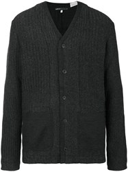 Levi's Made And Crafted Ribbed Patch Pocket Cardigan Men Cashmere Wool 1 Grey