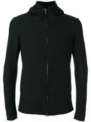Forme D'expression Hooded Zip Through Jacket Men Cotton Linen Flax M Black
