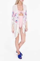 Athena Procopiou Women S Flower Child Fringe Kimono Boutique1 Mix