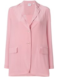 Aspesi Fitted Blazer Pink And Purple