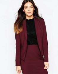 French Connection Glass Fitted Blazer In Biker Berry Biker Berry Red