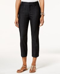 Jm Collection Cropped Twill Capri Only At Macy's Midnight Wash