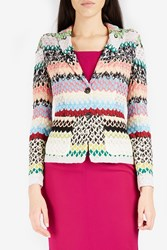 Missoni Women S Scalloped Knit Blazer Boutique1 Multi