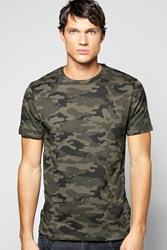 Boohoo Over Camo T Shirt Khaki