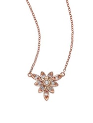 Jacquie Aiche Diamond And 14K Rose Gold Mini Flower Necklace