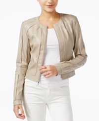 Guess Faux Leather Moto Jacket Woodson