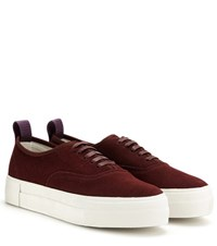 Eytys Mother Suede Sneakers Red
