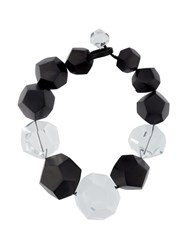 Monies Large Faceted Bead Necklace Black