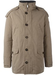 Peuterey Zipped Hooded Coat Nude Neutrals