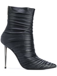 Tom Ford Ruched Stiletto Ankle Boots Women Calf Leather Leather 37.5 Black
