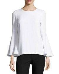 Elizabeth And James Raleigh Bell Sleeve Open Back Top White