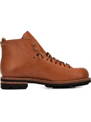 Feit Lace Up Boots Brown
