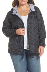 Columbia Plus Size Women's Flash Forward Print Hooded Jacket Black Print