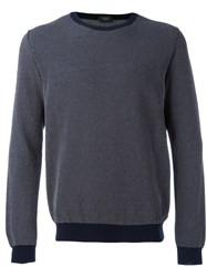 Zanone Knitted Sweater Blue