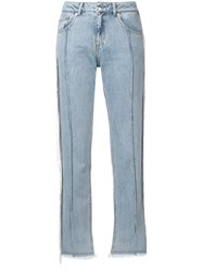 Each X Other Fringed Jeans Blue
