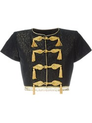Yves Saint Laurent Vintage Army Style Cropped Jacket Black