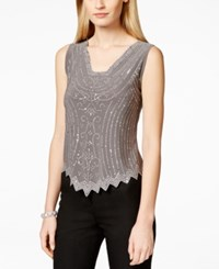 Msk Caviar Beaded Top
