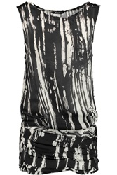 Balmain Ruched Printed Silk Tunic