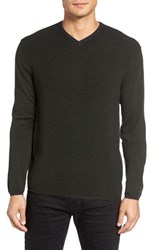 Zachary Prell Men's V Neck Colorblock Merino Wool Pullover