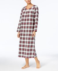 Charter Club Flannel Lace Trim Nightgown Created For Macy's Stewart Plaid