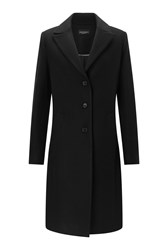 James Lakeland Long Line Single Breasted Coat Black