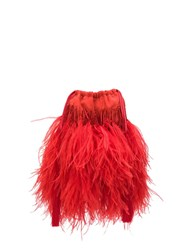Attico Feathers Mini Bag Red