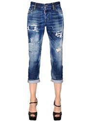 Dsquared Boyfriend Washed Cotton Denim Jeans