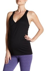 Belabumbum Active Nursing Cross Front Tank Maternity Black