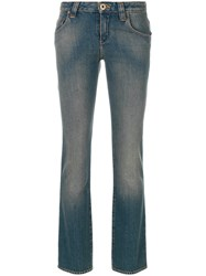 Chloe Cropped Straight Jeans Cotton Blue