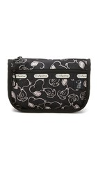 Le Sport Sac Peanuts X Lesportsac Travel Cosmetic Case Snoopy Shuffle Black