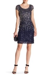 Js Boutique Ombre Sheath Cocktail Dress Blue