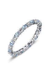 Lafonn Women's Simulated Diamond Birthstone Band Ring December Blue Topaz