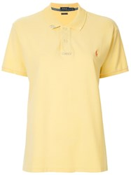 Polo Ralph Lauren Embroidered Logo Top Yellow