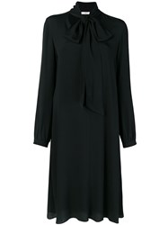 Mauro Grifoni Neck Tied Flared Dress Black