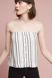 Anthropologie Cooper Strapless Top White