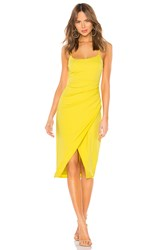 Lovers Friends Genevieve Midi Dress Yellow