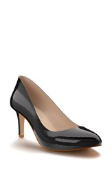 Women's Shoes Of Prey Round Toe Pump Black Patent