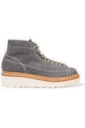 Grenson Annie Suede Ankle Boots Gray